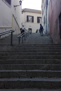 Лестница на улице Via Monte Polacco